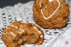 carrot cookies Cookies Healthy, Carrot Cookies, Cookies Faciles, Carrots, Muffin, Breakfast, Food, Peanut Butter, Almond Milk