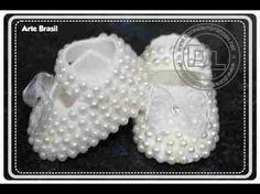 Sapatinho de crochê Princesa Rosa - passo a passo - #ProfessoraSimone #crochet - YouTube