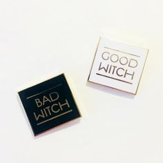 'Good Witch / Bad Witch' Pins