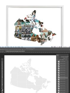 Add Image, Photo Collage Template, Stationery Templates, Photoshop, Canada, Graphic Design, Album, Map, Shirts