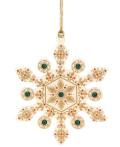 Lenox Christmas Ornament, China Jewels Emerald Snowflake. Lenox Christmas Ornament, China Jewels Emerald Snowflake Home - Misc Holiday Lane. Price: $24.99