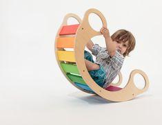 Regenbogenwippe, Spielmöbel kaufen oder selbst machen, Geschenkidee zum ersten Geburtstag, 1. Geburtstag, Kleinkinder Geschenktipp, Sammelgeschenk