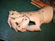 Leather Gauntlet work in progress by Barristan