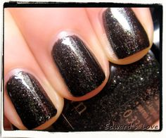 Edward's Love is a black base polish filled with tons of silver flecks. From the Twilight Breaking Dawn collection.