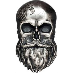 2019 PW BIKER SKULL 1 oz shape silver coin antiqued ...