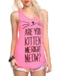 996b143039891 I found Are You Kitten Me Girls Tank Top - 301185 on Wish