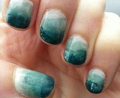 Mark Rothko inspired nail art.