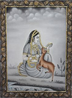 Indian traditional tanjore painting, view more at http://bit.ly/1mxW0BR