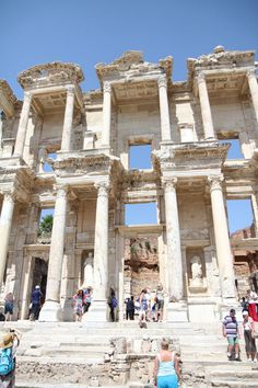 """This is the library at Ephesus.  It was on our tour.  There is a whore house across the road, so the men would tell their wives they were """"going to the library.""""  Whatever!  Women back then weren't dumb, they let them go so they didn't have to deal with them.  :)"""