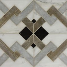 Handmade by Tabarka Studio's talented artisans, Petite Alliance combines the warmth of reclaimed wood with the opalescence of unique stone. Wood Floor Pattern, Floor Patterns, Tile Patterns, Textures Patterns, Stone Mosaic, Mosaic Tiles, Stone Tiles, Floor Design, Tile Design