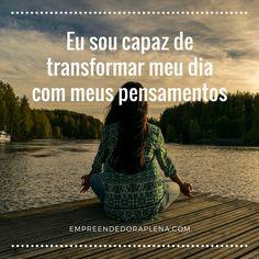 Afirmações positivas para transformar sua vida #frasesmotivacionais #afirmaçõespositivas #leidaatração Miracle Morning, Gautama Buddha, Positive Words, Good Vibes, Law Of Attraction, Namaste, Affirmations, Meditation, Positivity
