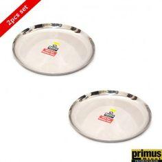 Primus Steel Radius Round Dinner Plate Big Set of 2 Pcs