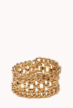 A stacked curb chain bracelet featuring a box clasp. High polish finish. Medium weight.  £8.90 by karla