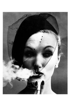 William Klein Smoke & Veil, Paris (Vogue), 1958 [From the Metropolitan Museum of Art]
