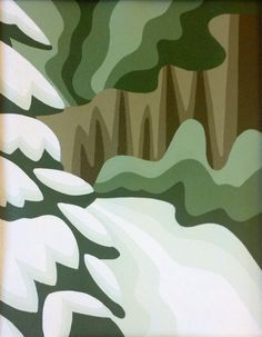 Original abstract painting Winter woodland by SnowbirdArtworks Snowy tree winter painting Save 10% with code PIN10