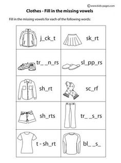 english resources clothes for kids - Buscar con Google