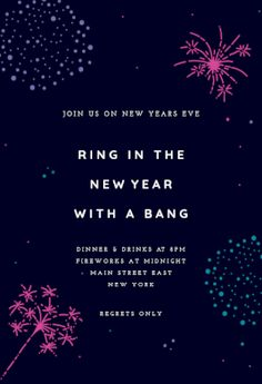with a bang free new year invitation template greetings island