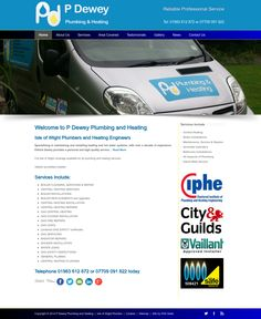 New mobile friendly website for P Dewey Plumbing and Heating, Isle of Wight Plumbers and Heating Engineers. http://www.pdeweyplumbingheating.co.uk/