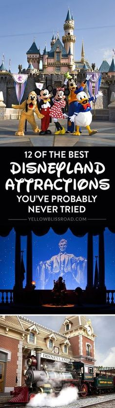 """There are so many things to do at the Disneyland Resort that it's hard to narrow it down to those """"must-do"""" attractions. These are some of the best you may not have tried yet! Disneyland vacation   Disneyland Resort   Disney tips"""