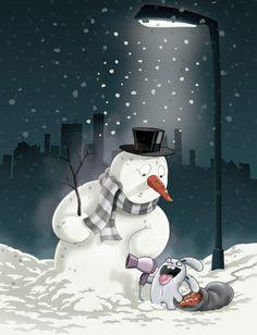 killer rabbit Snowman, Rabbit, Cartoons, Graphics, Digital, Anime, Couple Cartoon, Bunny, Rabbits