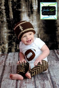 Football Onesie by eed953 on Etsy, $18.00--ahhh!!!! Love this'