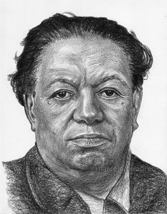 Mexican painter Diego Rivera ©drawing by Marcelo F de Abreu
