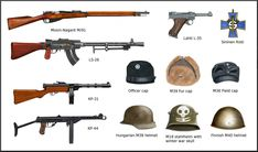 From 30 november 1939 to 13 march 1940 and from 25 June 1941 to 19 september 1944 Finland fough two wars against the Soviet Union, in the main context o. Winter and Continuation war finnish weapons Military Weapons, Military Art, Military History, Ww2 Facts, Ww2 Weapons, Ww2 Uniforms, Military Drawings, Military Insignia, Military Diorama