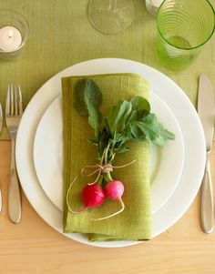 An Organic Placesetting - A Sweet Spot Home