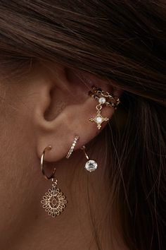 Rue Gembon - Rue Gembon Summer Gold Stud Ear Jacket
