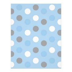 polka dot blue grey baby scrapbook paper letterhead template