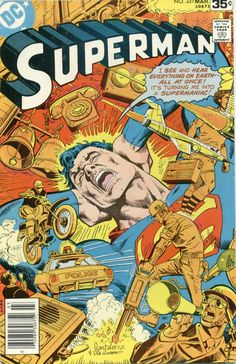 """""""Supermaniac!"""" - Superman N°321 (March 1978) - Cover by Jose Luis Garcia-Lopez and Dick Giordano"""