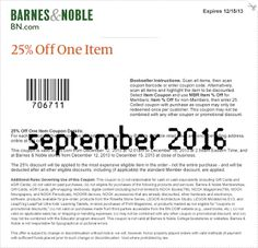 Free Printable Coupons: Barnes and Noble Coupons