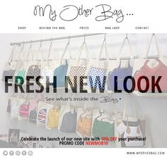 What do you think of our new site?! www.myotherbag.com