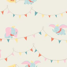 Someone please get pregnant so I can make a cute baby quilt with this adorable Dumbo fabric ... big top!