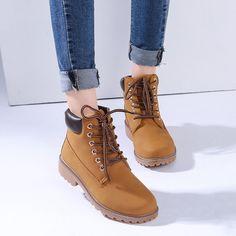 2017 Wanita sepatu Fashion Sepatu Martin Sepatu Salju Luar Kasual murah sepatu Botas Hombre Timber boots Autumn Musim Dingin Kekasih unisex