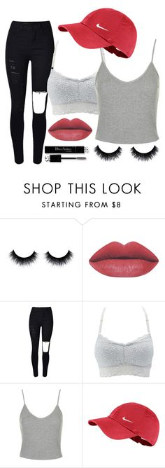 """174. Inspired by Loren Gray ❤️"" by sassyomg ❤ liked on Polyvore featuring Christian Dior, Charlotte Russe, Topshop and NIKE"