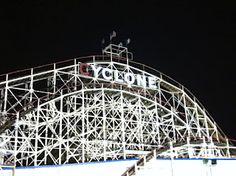 #cyclone = scariest coaster in all the land  the chili bowl