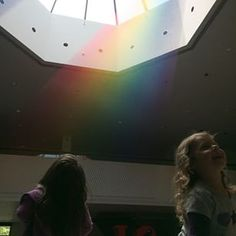"From @ motherbord ""Rainbow strings in the MOA at BYU. So cool. #art #byu #byumoa"" [Taken with Instagram]"