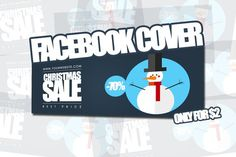 Christmas Facebook Cover. Vintage Design. $2.00
