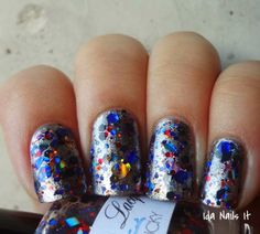 Lumina Lacquer Get Lucky Layered over OPI Haven't the Foggiest