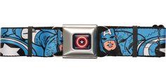 Captain America Poses Blue Seatbelt Belt #blackfriday #blackfridaysale
