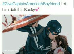 #stucky #GiveCaptainAmericaABoyfriend /// repost this to everywhere you sons of guns
