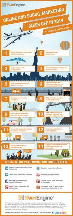 Tendencias sobre Social Media Marketing para 2014 #infografia #infographic #socialmedia