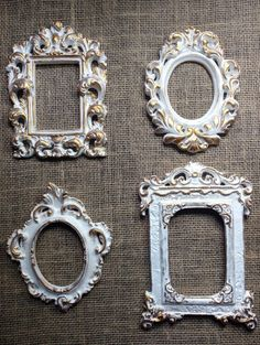 Vintage Frames, Antique Frames, Molduras Shabby Chic, Shabby Chic Picture Frames, House Furniture Design, Furniture Painting Techniques, Gallery Wall Frames, Easy Fall Crafts, Antique Pictures