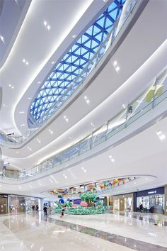 View full picture gallery of Gemdale Lake Town Dajing Shopping Mall Lighting Design Shopping Mall Architecture, Shopping Mall Interior, Online Shopping, Atrium Design, Facade Design, Light Architecture, Futuristic Architecture, Shoping Mall, Restaurant Hotel