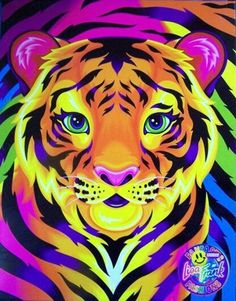 Lisa Frank Groovy Tiger Rainbow Zipper Notebook 3 Ring Binder w/ Mirror Lisa Frank Stickers, Arte Pop, Cute Wallpapers, Wallpaper Backgrounds, Bunt, Graffiti, Lion Sculpture, Artsy, Sketches