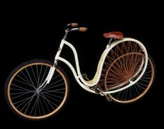 The Cygnet Cycle, ca. 1898  Stoddard Manufacturing Co.  Dayton, Ohio  United States    The Cygnet's curved frame was designed to absorb all shocks; a beautiful and rare feature was its celluloid fender.