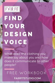 If you're an aspiring fashion designer, check out this blog post + free workbook to learn how to discover and refine your unique design voice. Download the FREE WORKBOOK to learn my 3-step design process for beginners!