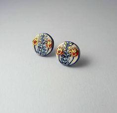 Tana šperky - keramika/zlato, a lá folklórne :) / Tana - SAShE. Folk, Enamel, Accessories, Fashion, Moda, Vitreous Enamel, Popular, Fashion Styles, Forks