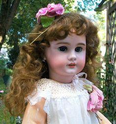 """24"""" Antique French Jumeau Dep 11 Bebe Doll Diplome D'Honneur Original Corset Wig"""